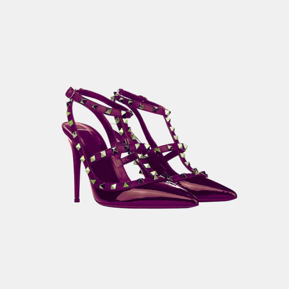 Stumped Heel Stiletto - Crimson